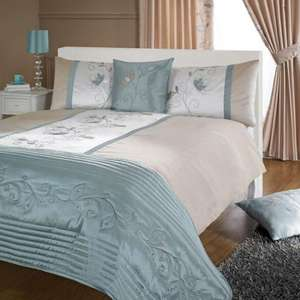 Duck Egg Jennifer Collection Duvet Cover Set £17.49  from Dunelm Mill
