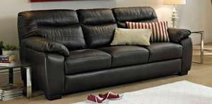 Abode 3 Seater Leather Sofa £599 50% off DFS