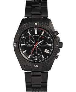 ACCURIST MEN'S BLACK CHRONOGRAPH WATCH. £110 on Play, £85 on HSamuel. Only £25.99 + £3.95 p+p on Argos eBay outlet.