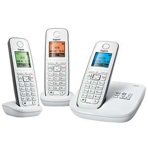 White Gigaset A510A Triple Dect Phones from John Lewis - £59.95