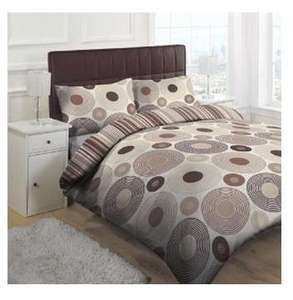 Orbital Duvet Cover Set, Natural, King Sold By Linens Limited @ Amazon £11.90