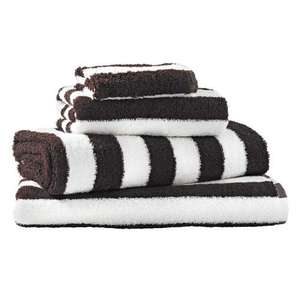 Bedeck - Mayfair Stripe Hand & Bath Towels 70% £3.60 & £7.20 respectively @ Bedeckhome
