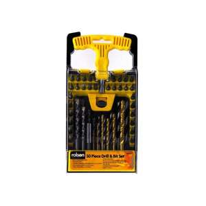 Rolson 48444 Drill and Bit Set (50 Pieces) £5.98 @Morrisons