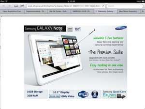"Samsung galaxy note 10.1"" Quad Core Tablet Android Wifi 16GB with S Pen - White £309.99 @ ebay  laptopoutletdirect"