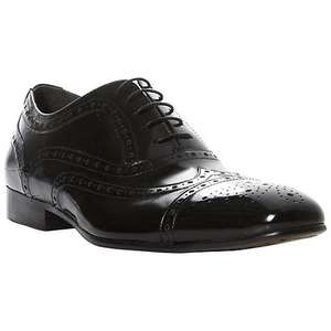 DUNE MENS - AMORE Leather Textured Lace Up Formal Brogue Shoes £59.00 down from £85 - many sizes available