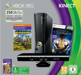 Xbox 360 250GB with Kinect, Kinect Adventures, Wreckateer, Fable The Journey, Joyride, Forza Essentials, Skyrim & 1mth XBL Gold £219.99 @ Game