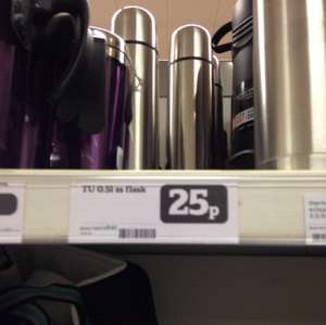 0.5l stainless steel flask 25p in store @ Sainsbury's