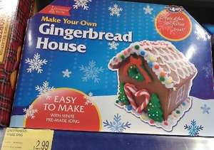 Gingerbread house down to £2.99 in B&M Bargains  Newry (comes with everything you need to create your own gingerbread house)