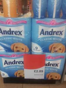 Scotmid - Andrex Toilet Roll 9 Pack - £2.89
