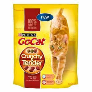 Go-Cat Crunchy & Tender cat food sample