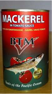 BTM mackerel in tomato sauce 425g - 79p at Home Bargains
