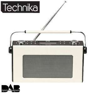 TECHNIKA DAB 211L RETRO LEATHER EFFECT DESIGN DIGITAL RADIO (REFURBISHED) £22.97 @  Tesco Outlet (Ebay)