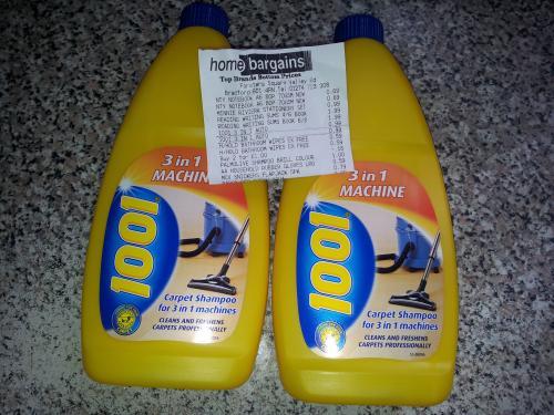 1001 carpet shampoo ( 3in 1 ) - 99p @ Home Bargains