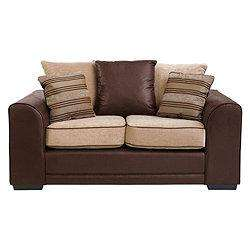 Inca Small Leather Effect & Fabric Sofa, Mocha @ Tesco Direct - £225.95 inc Delivery [Using Code in first post]
