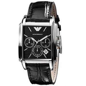Tic Watches - Armani Watches AR0478 Black Chronograph Mens Watch £179