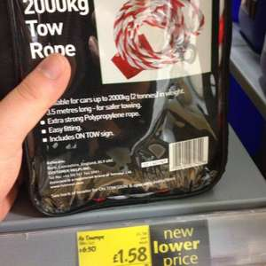 Auto Care 2000kg Tow Rope only £1.58 @ asda.