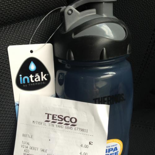 Thermos ice tube bottle £4 @ Tesco