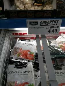 Lidl deluxe range reductions - 1kg raw giant king prawns £4.49!