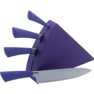 Colour Match 4 Piece Crescent True Purple Knife Block Set £7.99@Argos