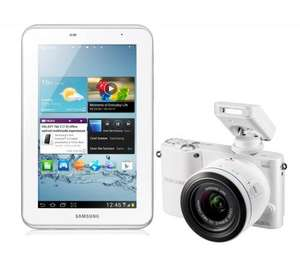Samsung NX1000 Digital Compact System Camera White (20.3MP, 20-50mm Lens Kit) and Samsung 7.0 Galaxy Tab 2 White 8GB £329.99 @ Amazon