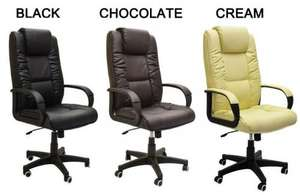 Leather Executive Office Chair 250kg weight capacity £54.99 FREE P&P @  tinyhomestore Ebay
