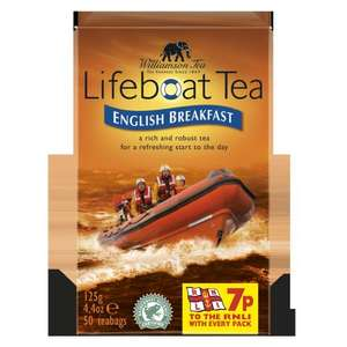 RNLI Lifeboat English Breakfast Tea - 50 Teabags - £2.00