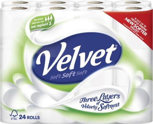Velvet Toilet Tissue 24Pack £7 @Asda