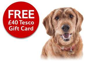 £40 Tesco Gift Card for new customers with a Clubcard who take out Tesco Pet Insurance
