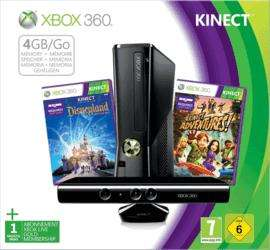 Xbox 360 4GB Console with Kinect Sensor + Kinect Joyride + Disneyland Adventures + Kinect Adventures + Forza Motorsport 4 + The ElderScrolls V: Skyrim + 2 months Xbox Live - £169.99 @ Game
