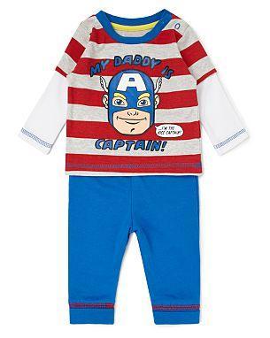 Captain America Baby Outfit £4 @ Asda
