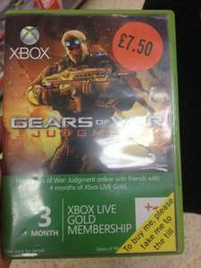 4 Months Gold Xbox Live Membership £7.50 Instore @ Sainsbury's