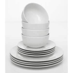 Wilko Essentials dinner set £5 @ Wilko reserve online for store collection