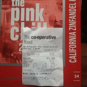 Pink Chill 3L Rose £5 mistake at Coop