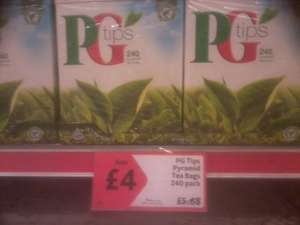 PG Tips 240 Pack  (Pyramid Tea Bags) Morrisons Instore
