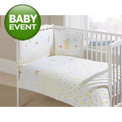 Little Angels Woodland Pastels Cot Quilt @ Asda Direct £8