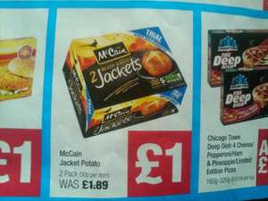 McCain Jacket Potato - 2 Pack  £1.00 @ Co-op