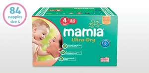 Jumbo Box of Mamia nappies £7.49 for size 4 (84 nappies) and size 5 (72 nappies) nappies at Aldi from Thurs 25th