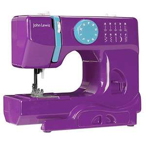 John Lewis Mini Colour Block Sewing Machine , Purple (and other colours) £35