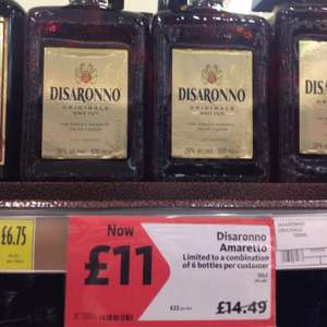 Disaronno (500ml) £11 at Morrisons (and Asda)