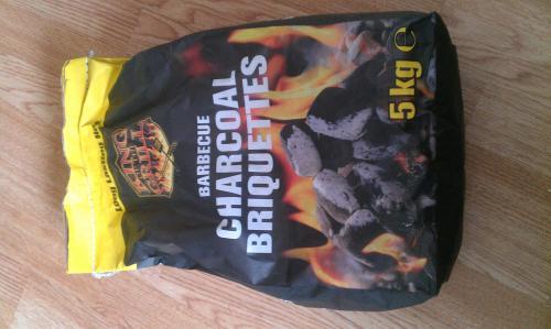 BBQ charcoal briquettes £3 for 5kg @ Lidl