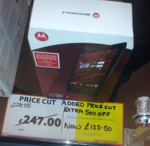 Motorola Xoom 2 16gb £123.50 Instore at Tesco