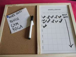 ASDA Notice board and weekly planner 60p !  Great for the exam time coming up! - Instore Deal