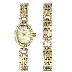 Rotary Ladies Two Tone Stone-Set Watch and Bracelet Set £18.74 @ Amazon