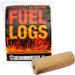 4 x Fuel logs - 8kg for wood stoves log burners open fire etc £1.99 @ Home Bargains