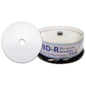 DIGISTOR 25GB 6X Blu-ray Disc Recordable BD-R Blank Media, White Inkjet Printable Surface (25 pack)  £19.75 by DIGISTOR Europe and Fulfilled by Amazon