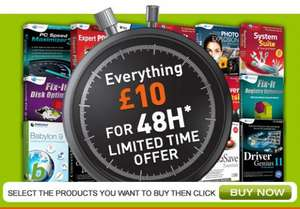 Everything £10.00 @ Avanquest 48hrs only
