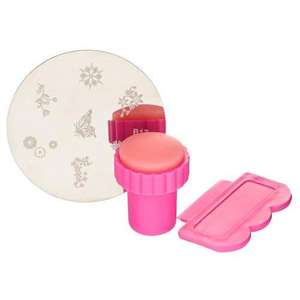 nail art stamper scraper and stamping image plate £1 @ Poundland