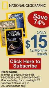 12 Issues of National Geographic Magazine plus free Fleece Jacket £15