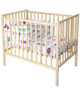Compact Cot With My Mattress and Funky Friends Quilt and Bumper Set £60.00 @ KiddiCare