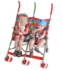 Basic Twin Buggy Stripes Was £99.99 Now £38.24 5% off code £36.33 PLUS possible Quidco @ Kiddicare